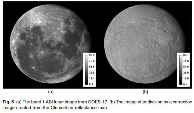 Moon image before and after AiF